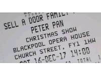 2 x peter pan the musical tickets