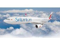 2 flight tickets to Sri Lanka