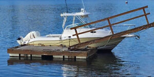 Floating dock and gangway