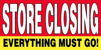 STORE CLOSING Vinyl Banner Clearance Sale Sign 2x3 ft - rb