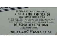 Two nico & Vinz and Six60 tickets for sale