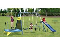Brand new swing / trampoline / glider 3in 1 set for kids