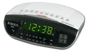 roberts cr9971 chrono logic vi dual alarm clock fm am radio with auto time s. Black Bedroom Furniture Sets. Home Design Ideas