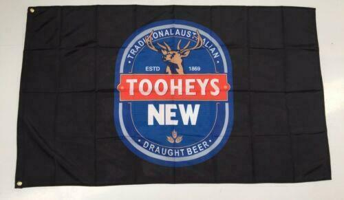 TOOHEYS NEW BEER FLAG  AUSTRALIA - 90cm x 150cm MAN CAVE SHED AUSSIE BAR