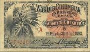 1893 Worlds Fair Ticket