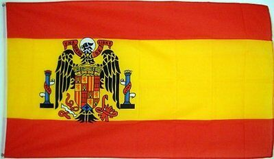 3'x5' SPANISH FLAG of SPAIN, 1945-1977 Falange Franco
