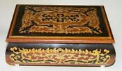 Vintage Wooden Musical Jewelry Box