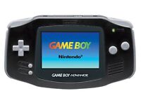 Black game boy advance