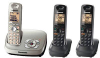 KXTG6523 Panasonic Dect6.0 3Hs Cordless Phone With Answering