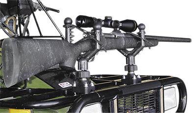 Universal ATV UTV Cushioned Gun Rack Rifle Tool Holder QuadBoss