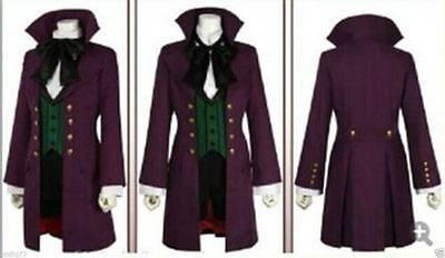 Black Butler Purple Full Set Uniform Alois Trancy Cosplay Costume](Full Black Costume)