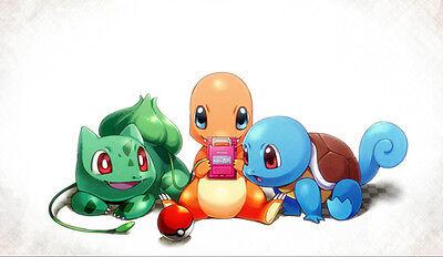 129 Pokemon Starters PLAYMAT CUSTOM PLAY MAT ANIME PLAYMAT FREE SHIPPING ](Anime Customes)