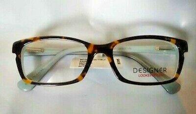 Designer looks for less  eyeglass frames Tortiose / Blue dlfl4025  52-17-135 (Eyeglasses For Less)
