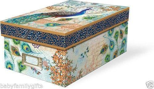 decorative cardboard boxes ebay. Black Bedroom Furniture Sets. Home Design Ideas