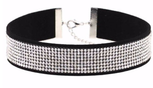 Black Choker with Rhinestones (2)