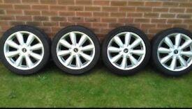 """Genuine 18"""" mini turbo fan alloy wheels"""