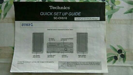 Technics Hi-Fi system with speakers & remote