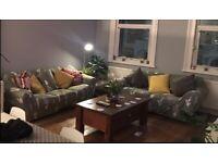 2 Sofa Covers, Green Cacti - 3 & 2 Seat Sofa- Elasticated