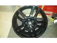 Seat Ibiza Cupra MK4 Gloss Black 17 inch wheel X 4 fit try really size 205/40/17 5X100 used