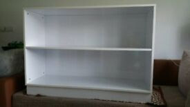 Cabinet with shelves white gloss
