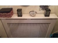 Radiator covers for sale white second hand need cleaning