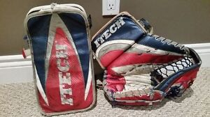 Set of used Itech Senior Pro Model Goalie Gloves