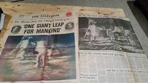 Collection of original 1969 Moon Landing Newspaper Articles
