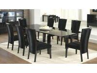 CASABELLA La Dolce Vita High Gloss Italian Dining Table Chairs