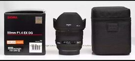 Sigma 50mm 1.4 Lens