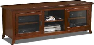 "62"" Wide/Largeur CREDENZA, Bois solide/wood et vernis, Walnut"