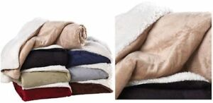REVERSIBLE SHERPA BLANKET-BRAND NEW-MANY COLORS