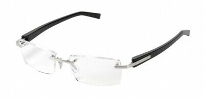 New TAG Heuer 8103 002 Rimless Trends Black Silver Eyeglasses Authentic (Silver Rimless Eyeglasses)