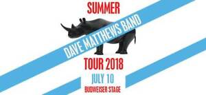 DAVE MATHEWS BAND JULY 10, 2018 8:00PM 203 Front Row