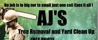 Aj'S Tree Removal and Yard Clean Up
