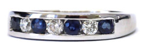 White Gold Ring Sapphire 0.40 Carats