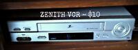 ZENITH VCR