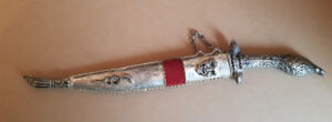 Vintage Dagger/Knife/Sword Letter Opener marked 1821 with Sheath
