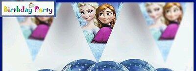 birthday party hanging banner elsa anna frozen - Frozen Birthday Party Theme