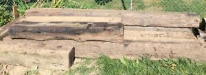 Old Wood Blocks / Timber  (Large size, around 10 blocks)