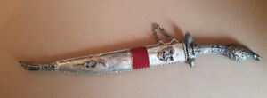 Vintage Dagger/Knife/Sword Letter Opener marked 1821 with Sheath