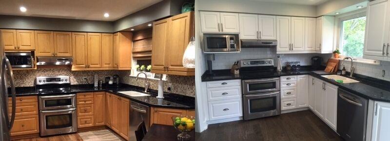 Kitchen Cabinet Spray Painting Mississauga