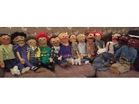 13x professional puppets + accessories from kids on block show