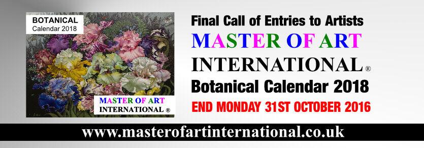 Final call to artists : Master of Art International - BOTANICAL Calendar 2018