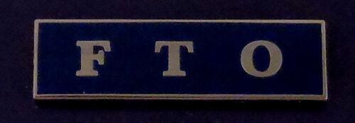 FTO Silver on Blue Uniform Award/Commendation Bar police field training officer