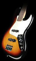 Fender jazz bass with amp, extension chord. strap and Hard Case