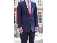 HENRY HERBERT BESPOKE SUIT JACKET & Trousers, Size Small