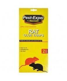 RAT AND MOUSE GLUE TRAPS 2 IN EASCH PACK, THE HUMANE WAY OF PEST CONTROL,