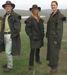 NEW: TWO GENUINE OILSKIN UNISEX COATS; NEW WITH TAGS - Sm+M