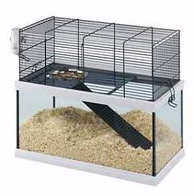 Glass and metal gerbilarium gerbil hamster mice pet cage