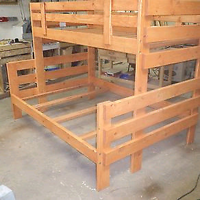 Custom made wooden bunk beds